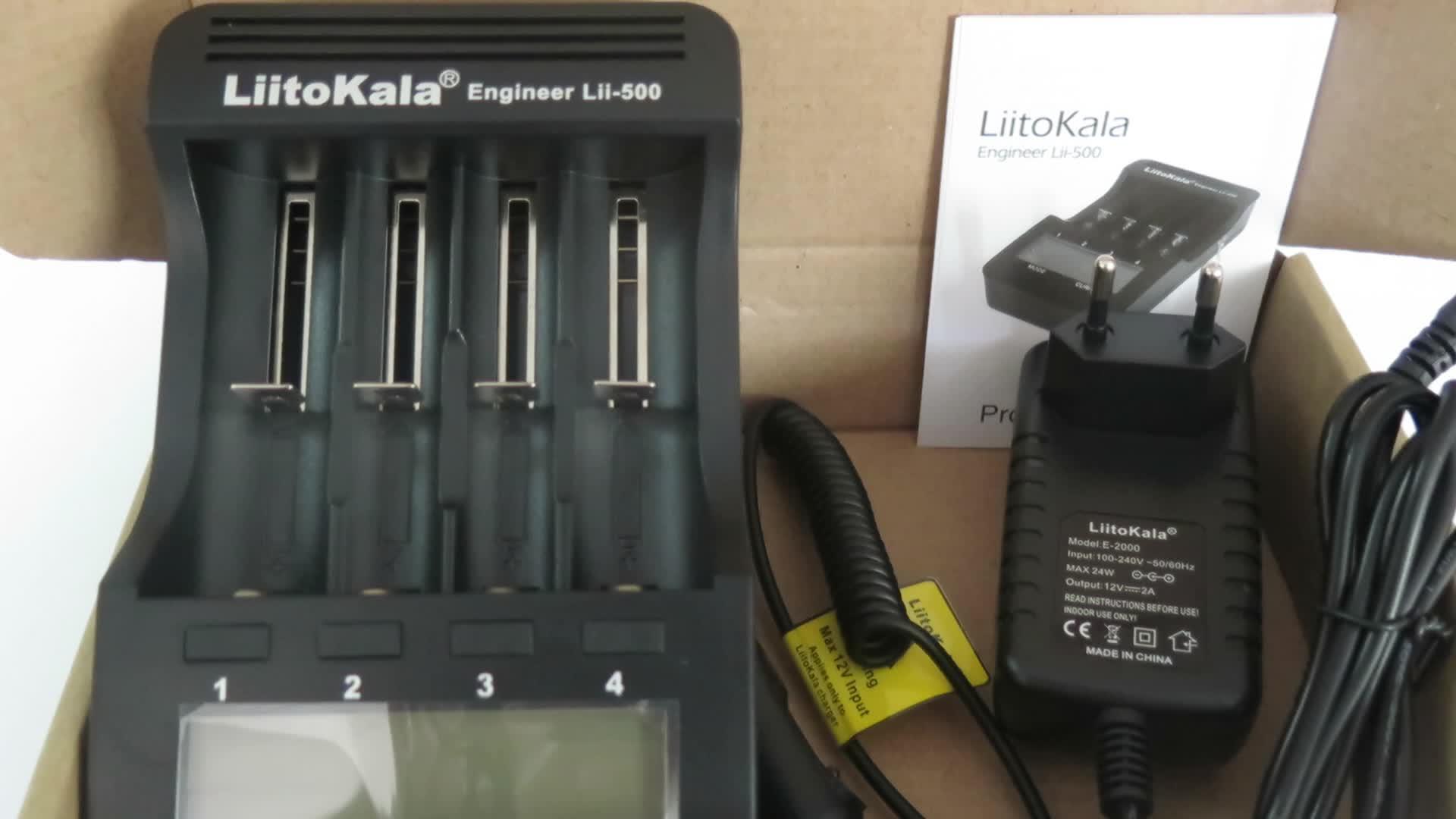 Original Liitokala lii-500 LCD 3,7 V/1,2 V AA/AAA/18650/26650/16340/14500/10440/18500 cargador de batería con pantalla + lii-500 5V1A