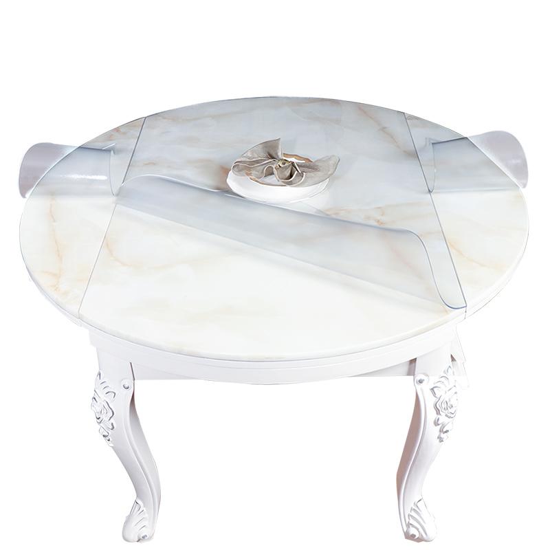 随椭圆形半圆伸缩餐桌垫塑料垫桌布评价如何