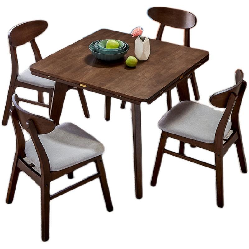 全友北欧简约组合胡桃木色餐桌使用评测分享