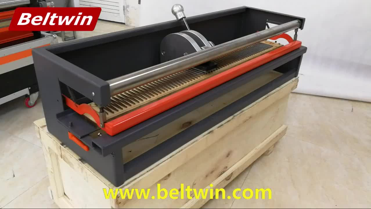 Beltwin portable and light wight Manual operated PVC/PU belt 900mm width finger punching machine