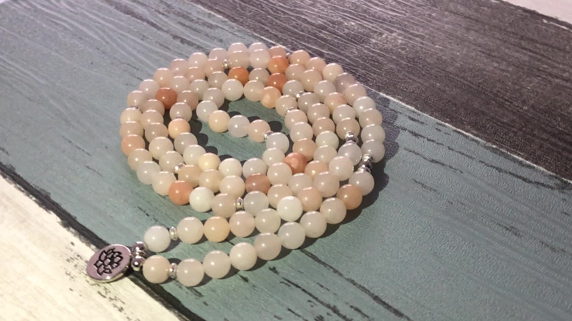 SN1491 STONE OF POWER 108 Mala Bead Bracelet Yoga Budhhist Jewelry Meditation Yoga Prayer Beads Bracelet Or Necklace