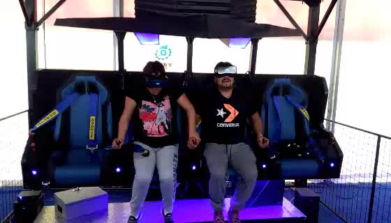 2018 brand new 9D VR flying cinema simulator four seats hanging chair 9d vr game machine for sale