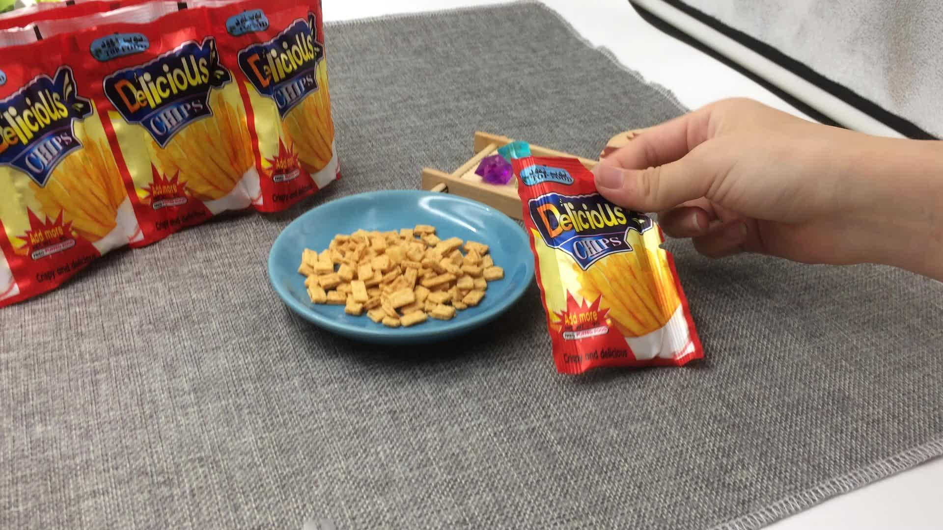 Krokante Garnalen Chips Snacks Chips Verschillende Smaken Chips