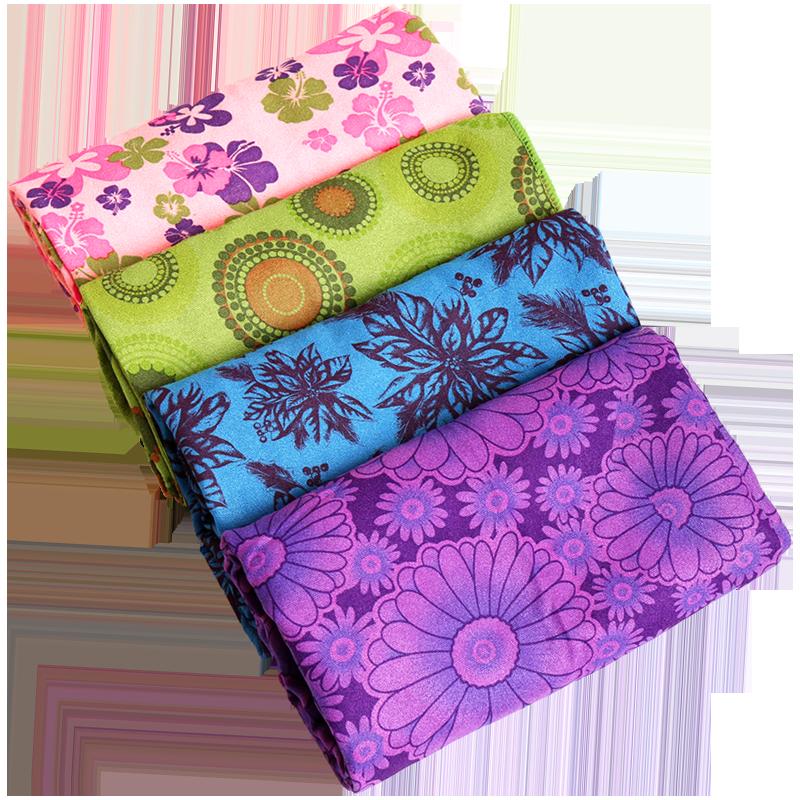 途斯印花瑜珈毯铺垫85CM加宽垫巾防滑瑜伽铺巾加厚瑜伽毯吸汗毛巾