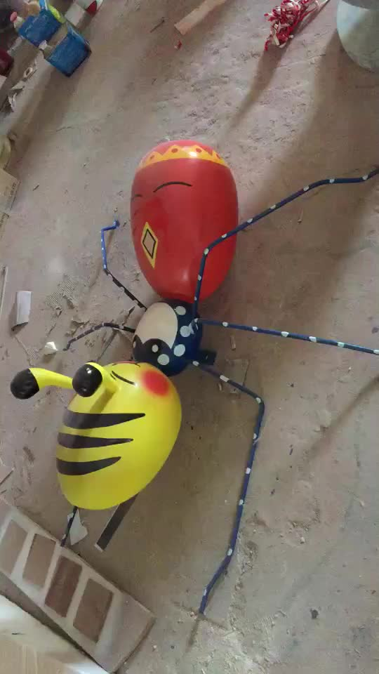 Insect Theme Garden Decorate Fiberglass New Product Big Ant Sculpture For China Suppliers