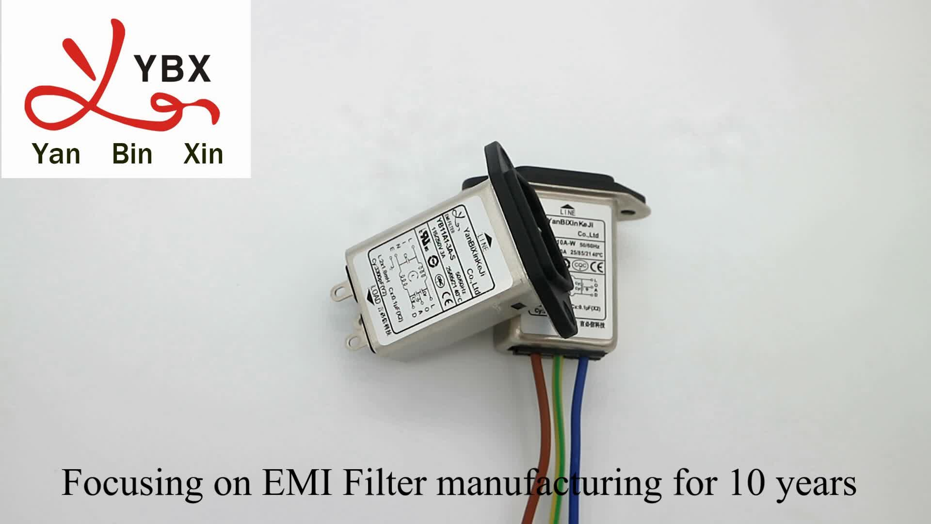 Yanbixin IEC 320 AC 입구 EMI 필터 10A 220V