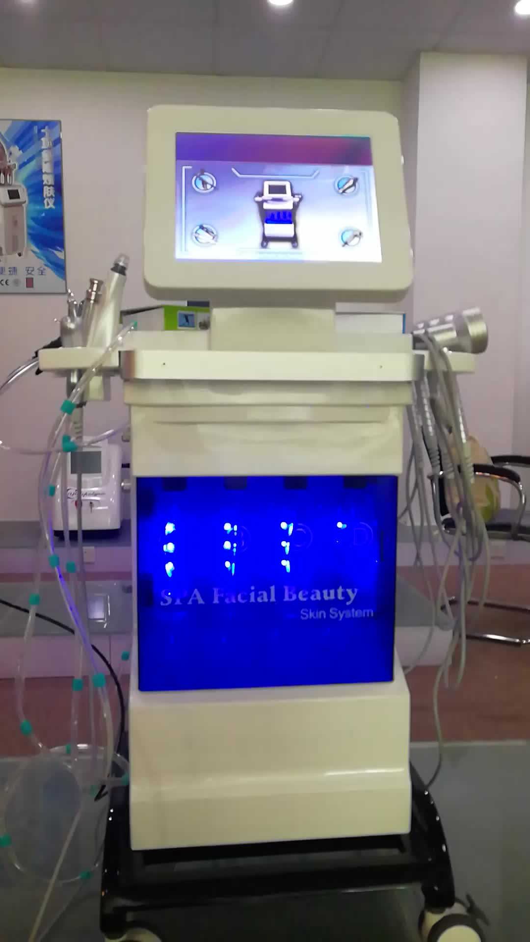 Spa Facial 4 In 1 Water Hyperbaric Therapy Jet Peel Oxygen Inject Equipment For Sale