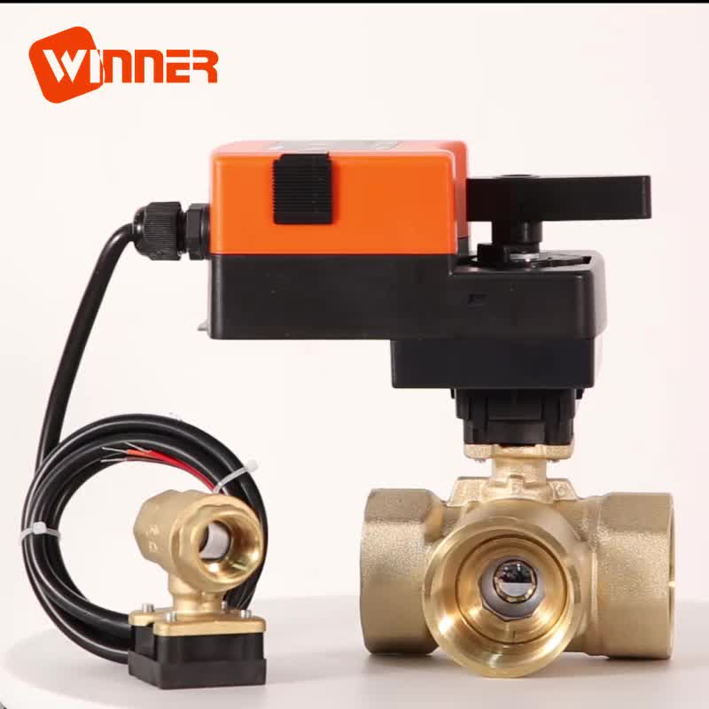 24VAC/DC Proportional Ball Valve Electric Actuator with Water Control Ball Valve