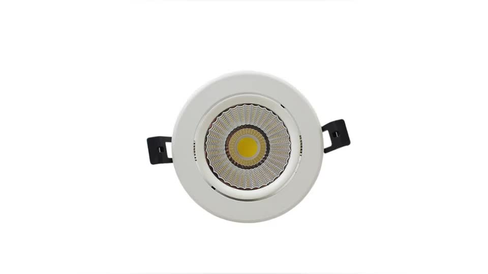 Supermarket lighting COB Round Dimmable surface mounted Recessed 12w LED Downlight,7w 15w 30w 40w indoor led down lights