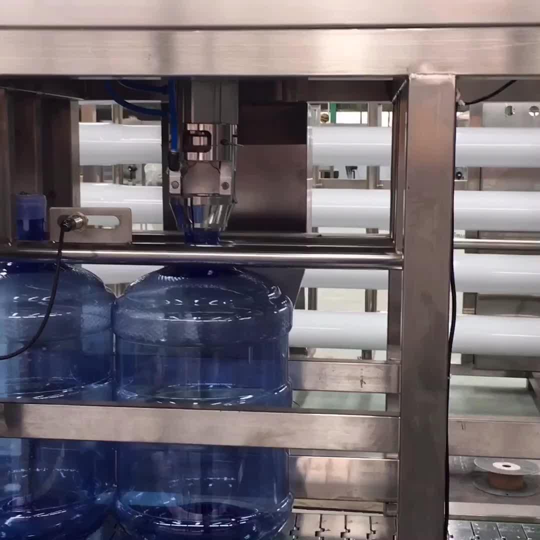 छोटी बोतल 19 लीटर बोतलबंद पानी बनाने की मशीन 3 में 1