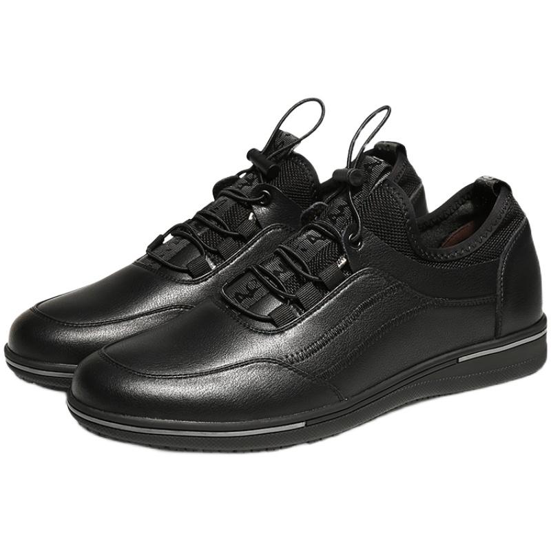 厨王厨房男防滑防水厨师软底皮鞋质量如何