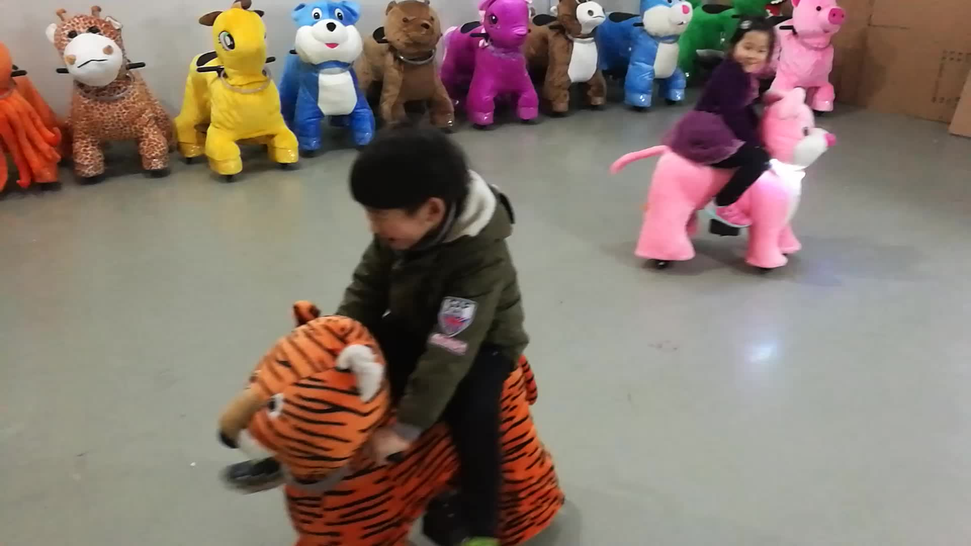 kids dinosaur toy stuffed electric animal ride toy animal ride for children