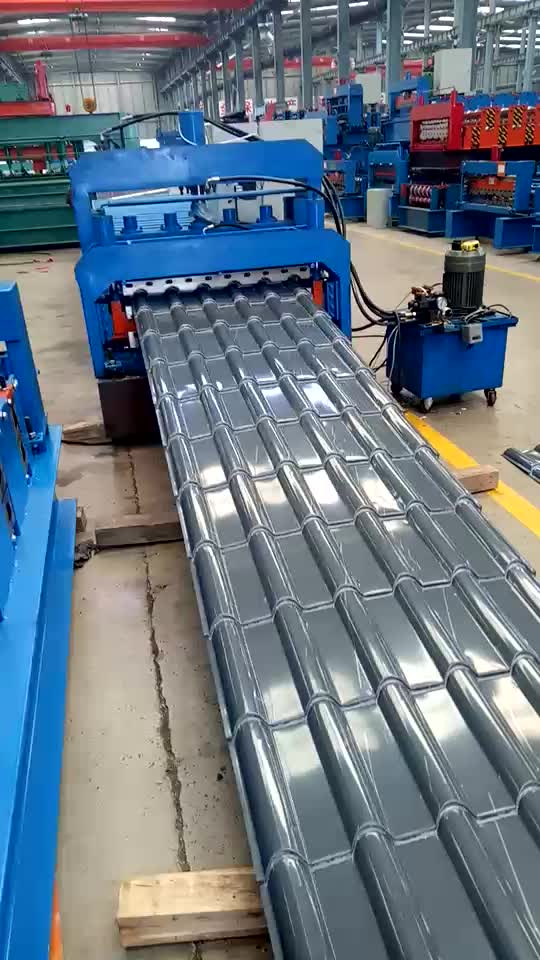 Steel Classic Glazed Roof Tiles Roller Former Making Line