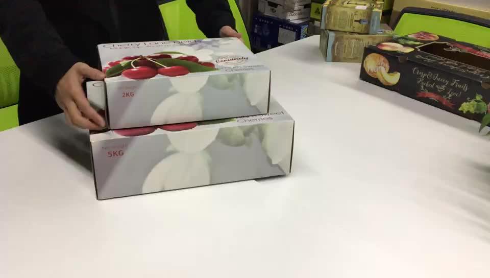 Fabrik Pappe Papier karton Obst Kirsche Kunden spezifische weiße Wellpappe Karton Verpackung Wellpappe benutzer definierte Box