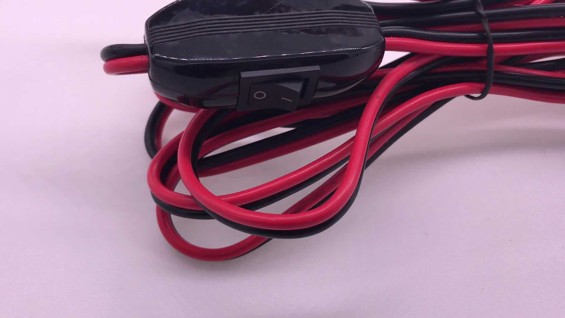 Motorcycle Trailer 2 Pin Standard SAE Plug to Crimp Terminal with Fuse Wire  Assembly