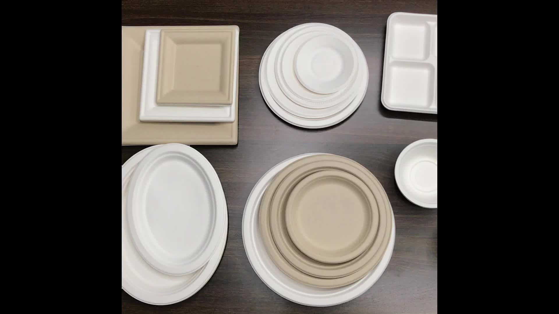 Eco-friendly sugarcane bagasse paper plate/disposable compostable party plate