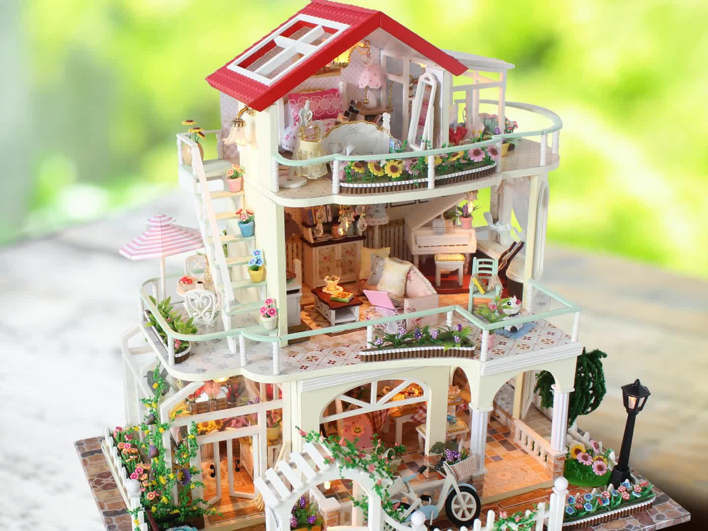 New Arrival Diy Wooden Dollhouse Miniatures Furniture Miniature