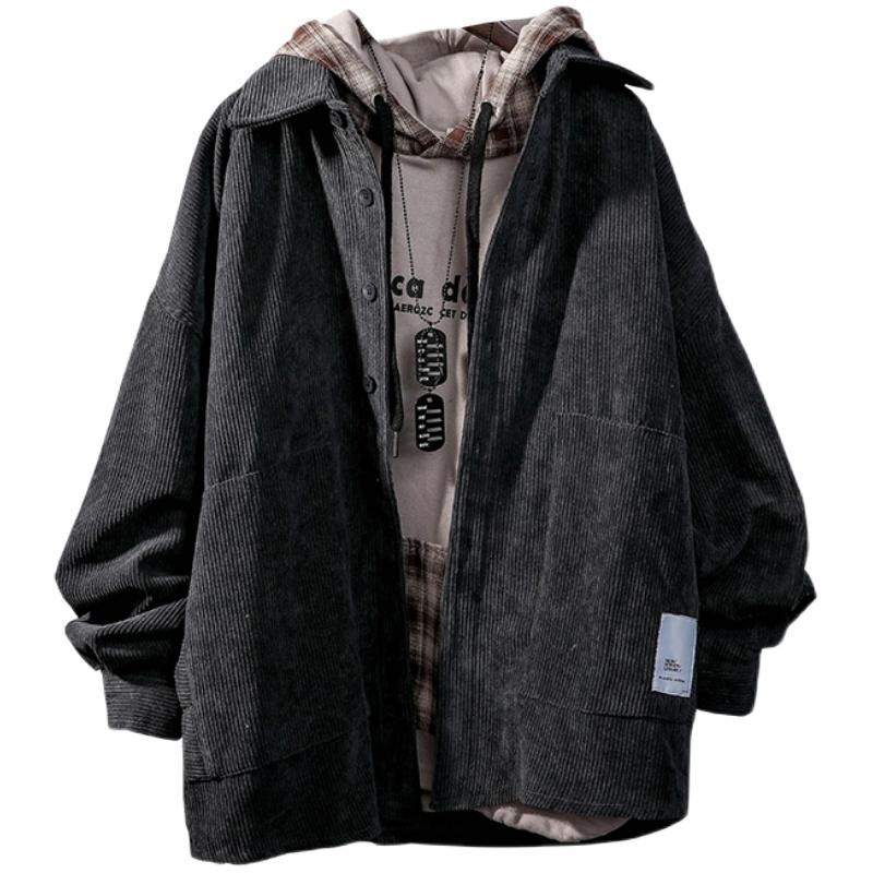 日系复古灯芯绒外套男宽松潮流衬衫使用评测分享