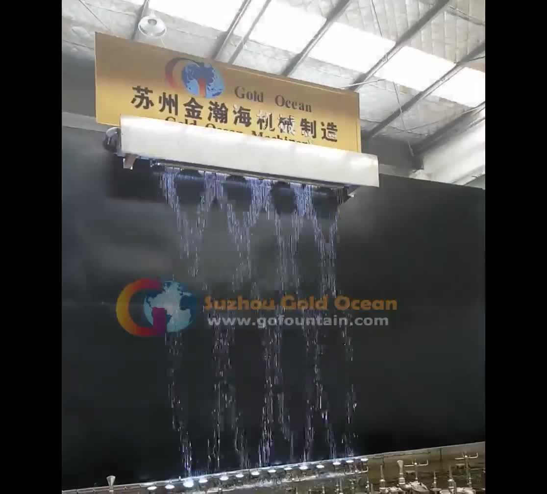 Free Design Cheap Price Indoor Outdoor Wedding Stainless Steel Led Wall Graphical Digital Water Curtain