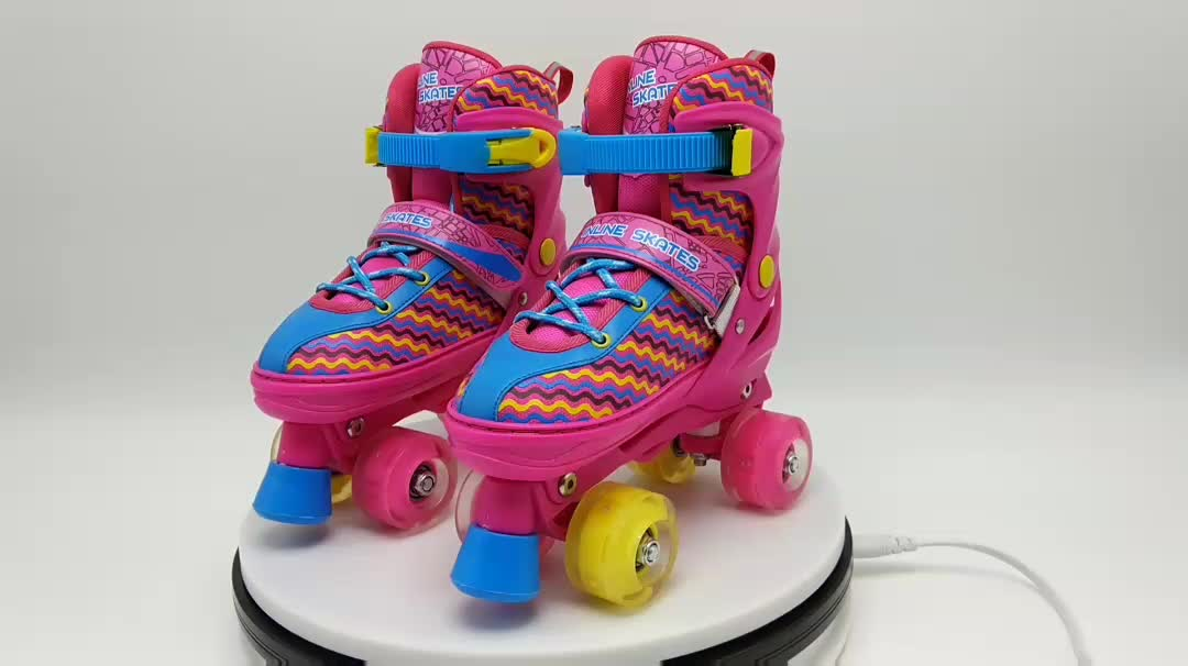 PVC/PU wheels Adjustable roller skates,colorful inline skate wholesale ruedas de patines