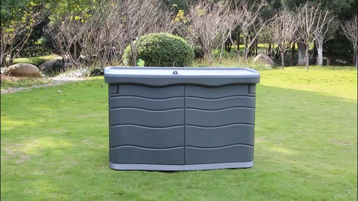 Outdoor horizontal storage shed