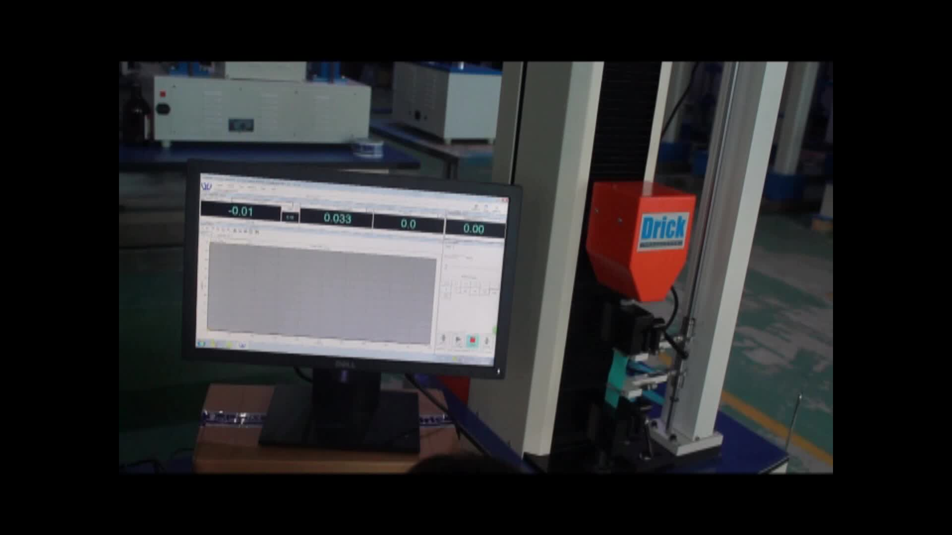 Fabric tensile strength tester with computer operation and software
