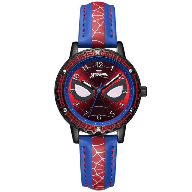 迪士尼儿童手表指针式男童蜘蛛侠卡通联名男孩防水小学生电子表男