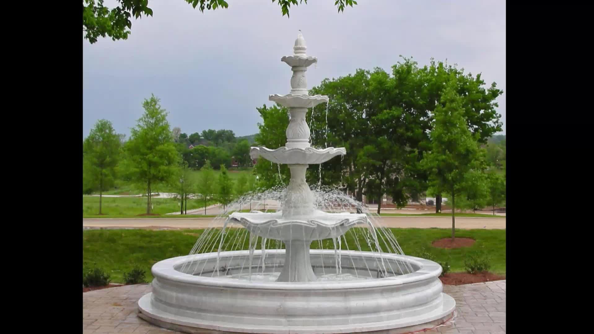 Venta caliente de aseguramiento de Comercio de alta calidad al aire libre gran piedra de jardín fuente de agua