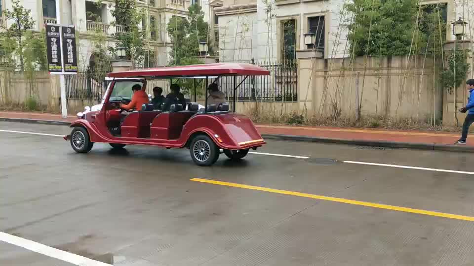 7.5 KW 6 passenger hotel shuttle/ resort tourist car electric car for sale