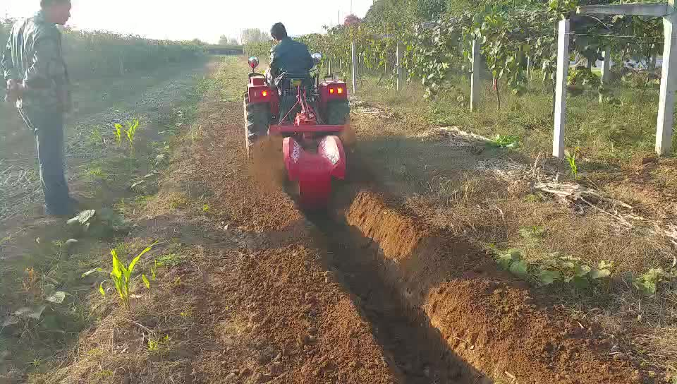 Small Tractor Offset Ditcher With Blades