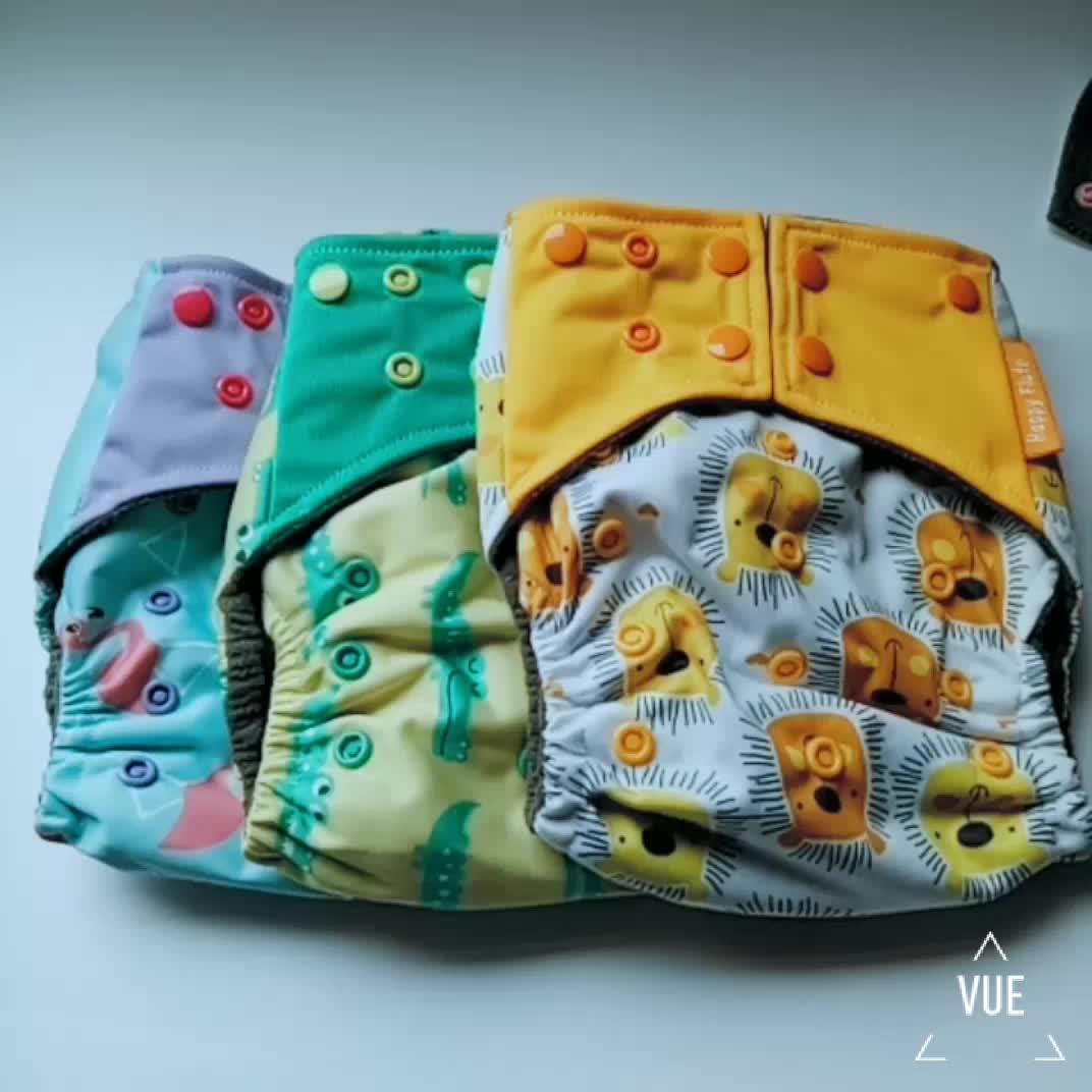 ハッピーフルート洗えるベビー布おむつ再利用可能な赤ちゃんおむつ卸売竹炭おむつメーカー