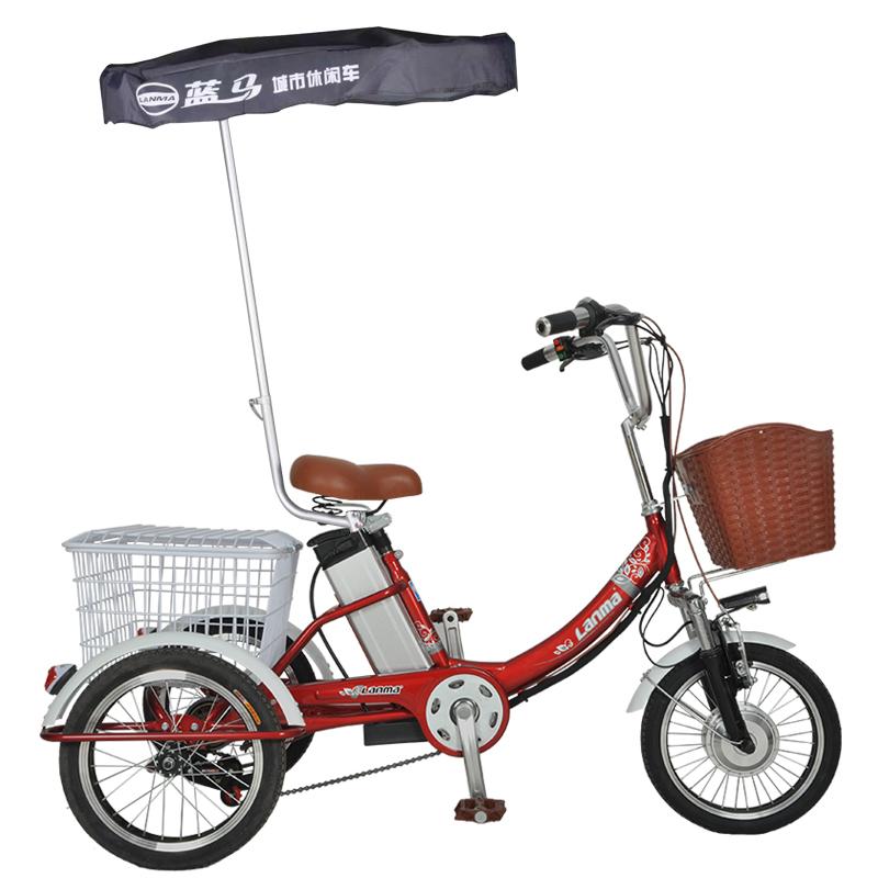 蓝马家用小型老年人锻炼三轮车