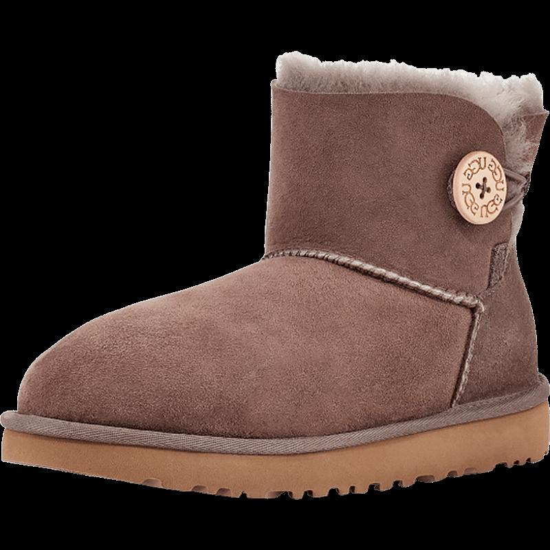 UGG秋冬季女士雪地靴防泼水防污涂层经典贝莉纽扣短靴 1016422