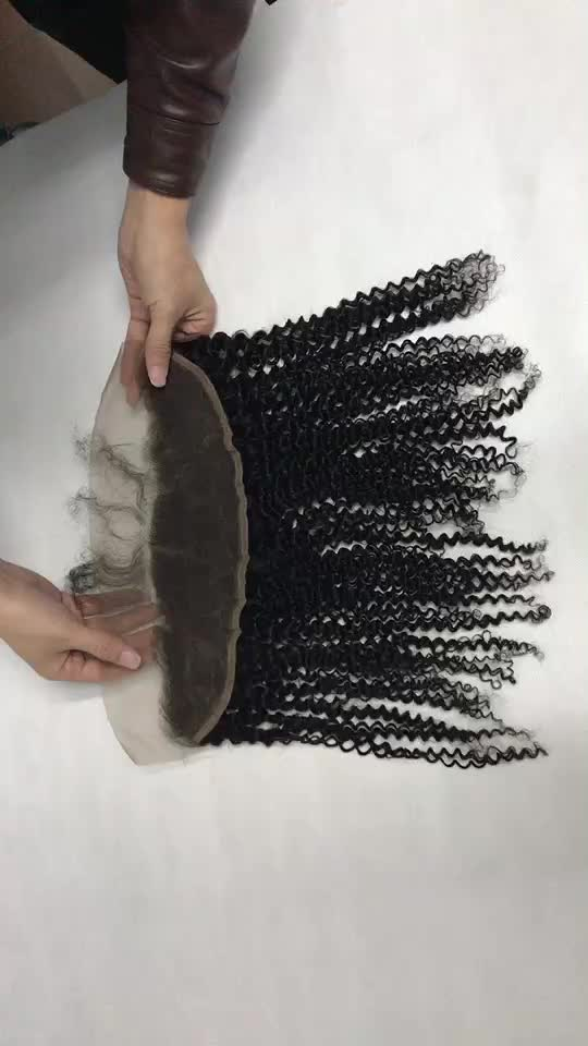 13x4  Kinky Curly Lace Frontal,  Afro Style New Design Prompt Delivery Fast Shipping Swiss Lace Frontal Hair Extension