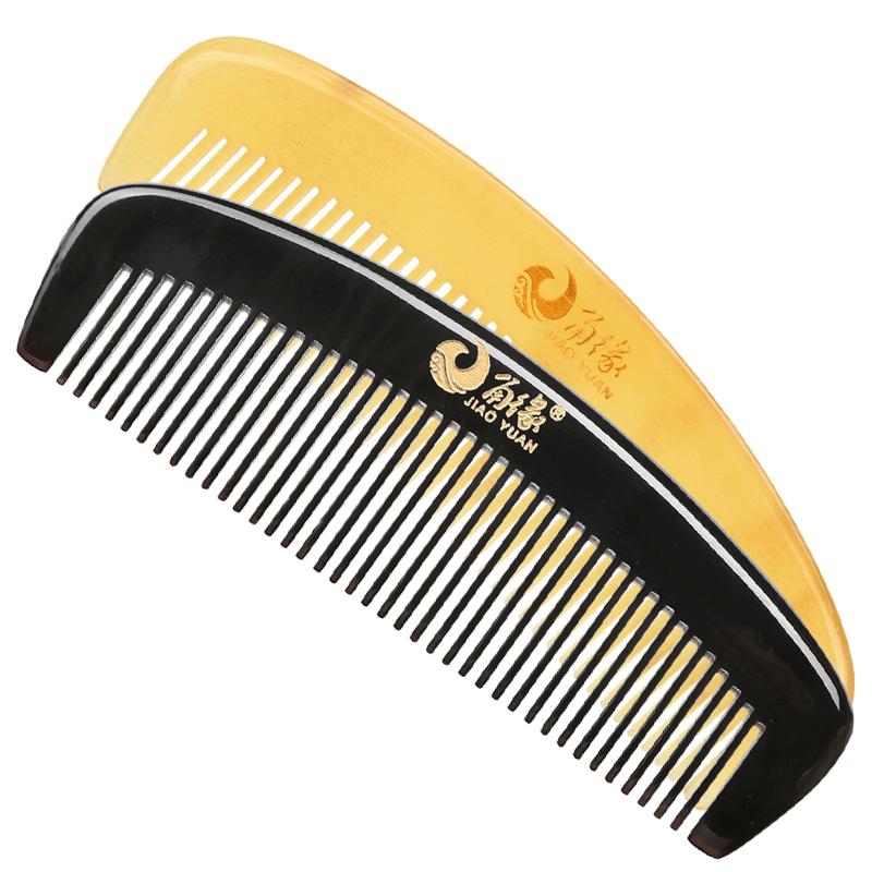 角缘纯牛角梳子正品天然防静电脱发长直发大号女家用按摩梳非木梳