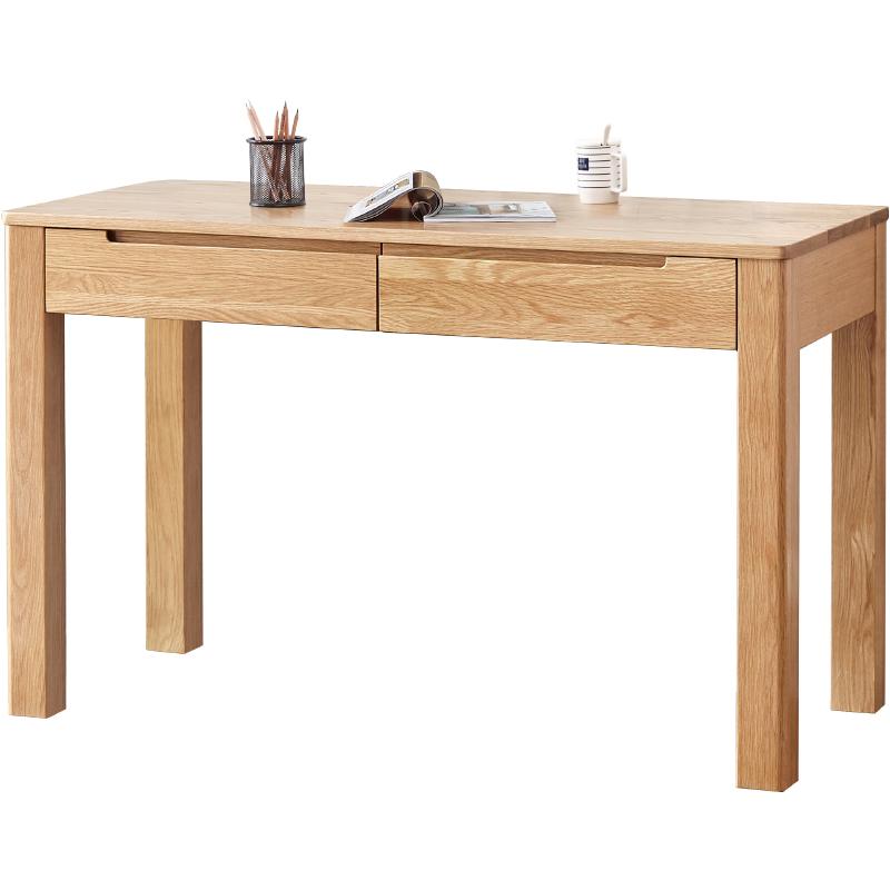 源氏木语纯实木小书桌简约办公桌子质量如何