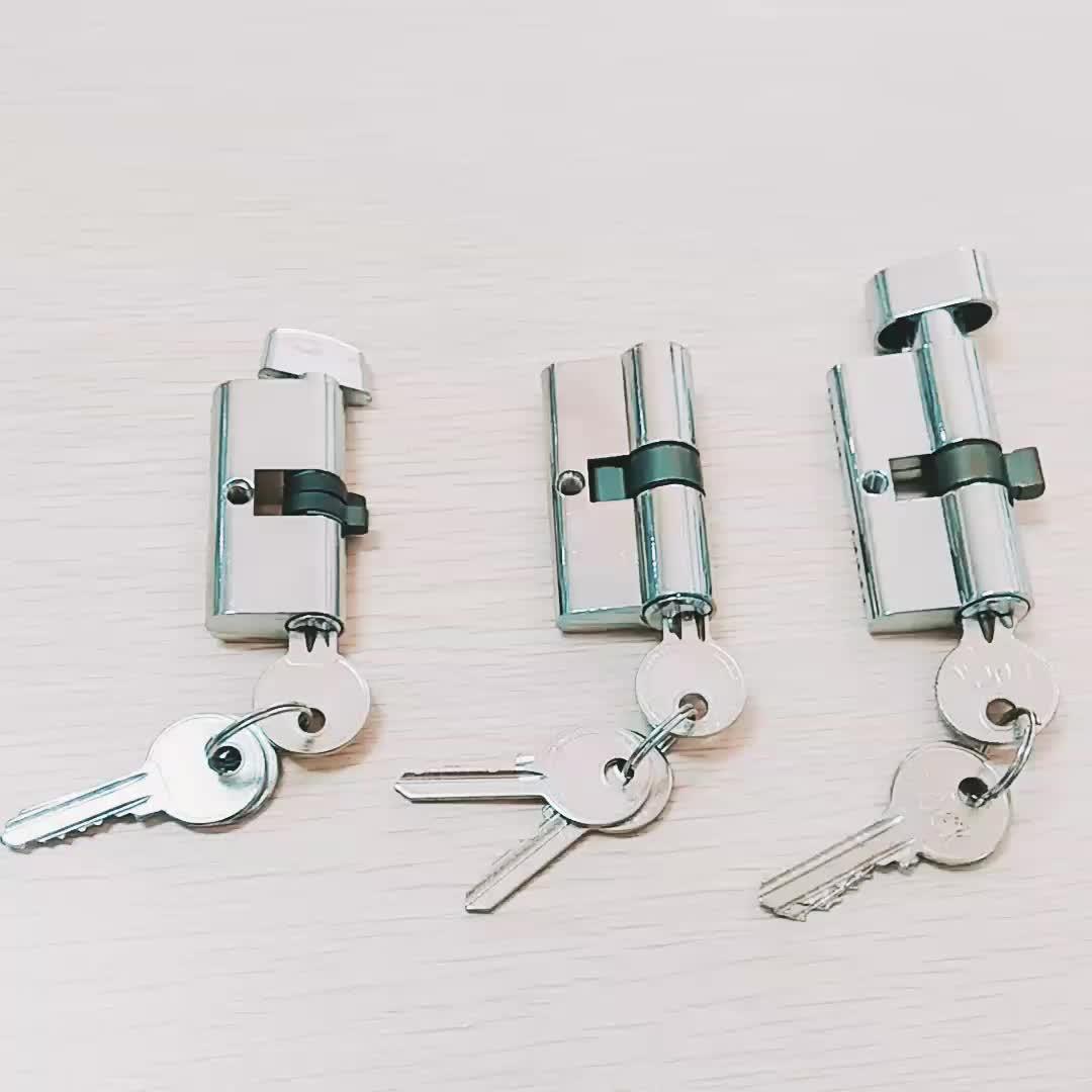 Zinc brass keys double open solid lock cylinder