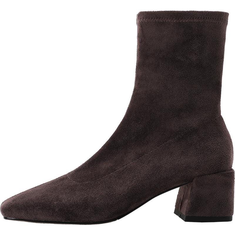 独家天使弹力女2021新款秋方头靴好用吗