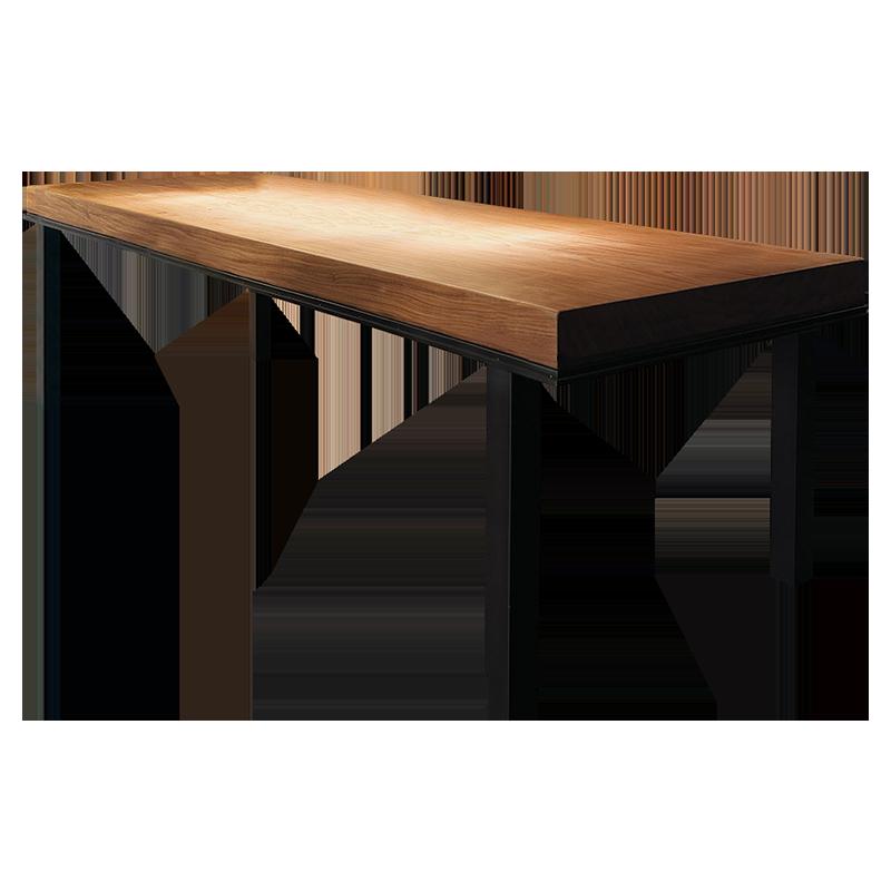 北欧餐桌椅组合实木桌简约长方形复古咖啡厅长条原木家用大长桌子