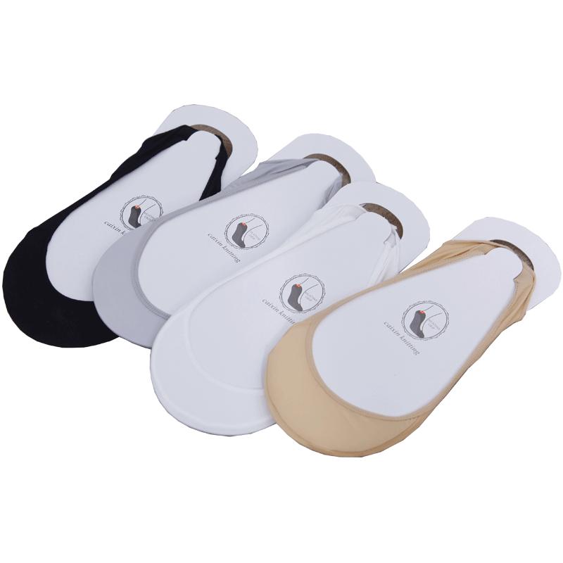 袜子女船袜浅口隐形薄款夏天夏季硅胶防滑高跟鞋前掌肉色短丝袜