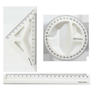M&G 晨光 立体绘图套尺(三角尺+量角器+直尺)  券后7.8元