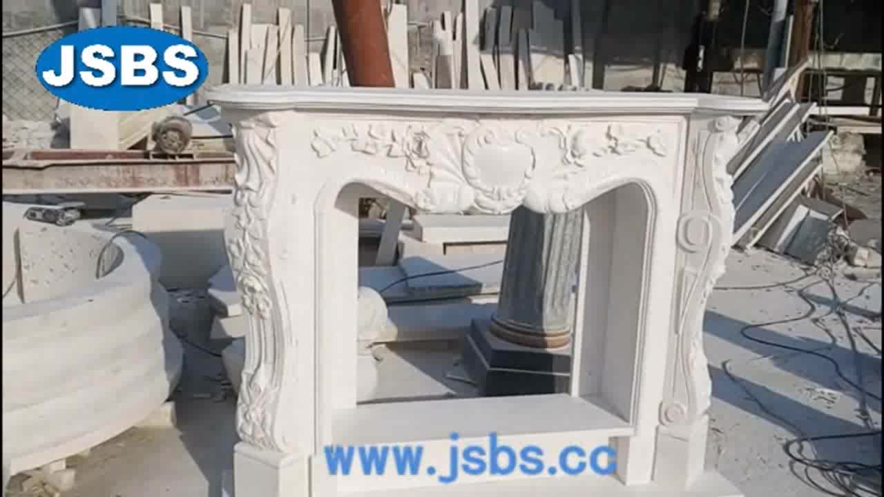 Hot Selling Beautiful Stone Carved Cheap cultured marble fireplace mantel