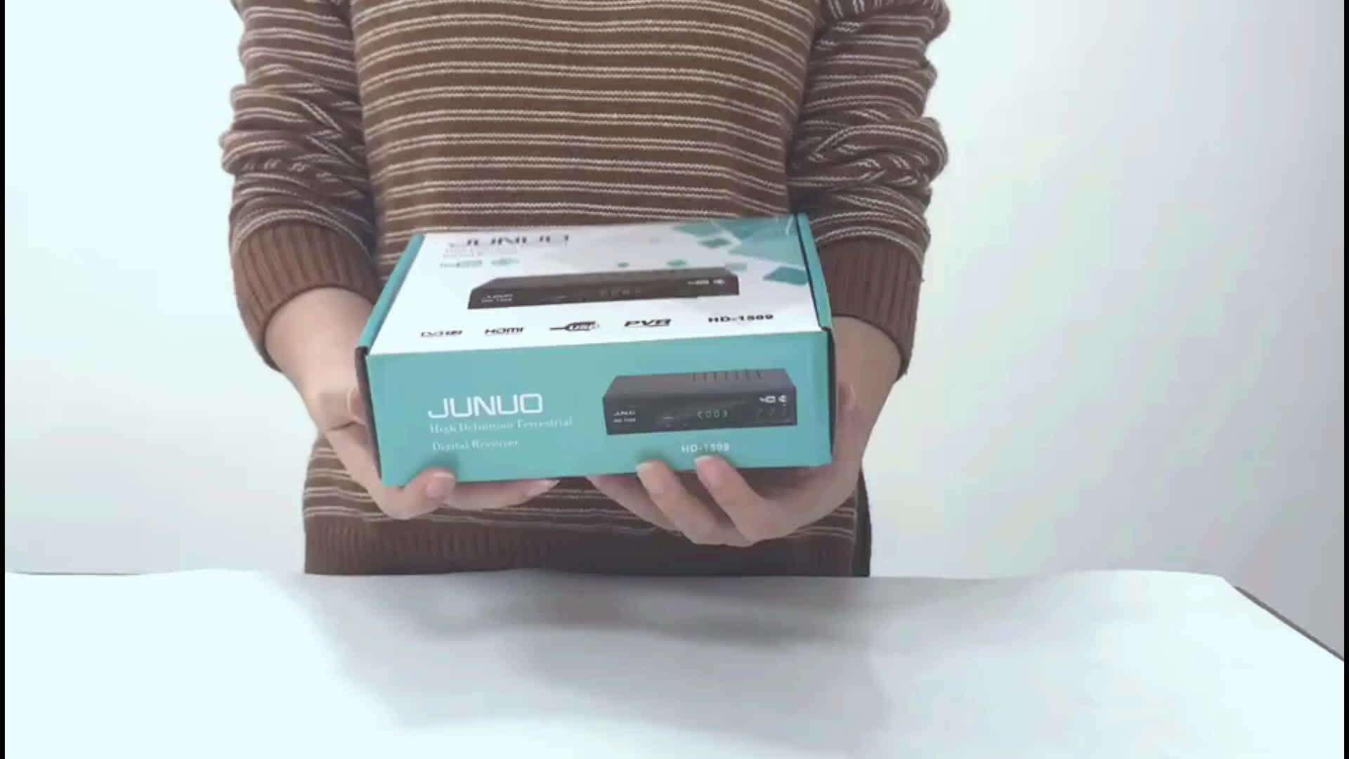 Hot selling junuo tv box  digital dvb t2 set top box for European market