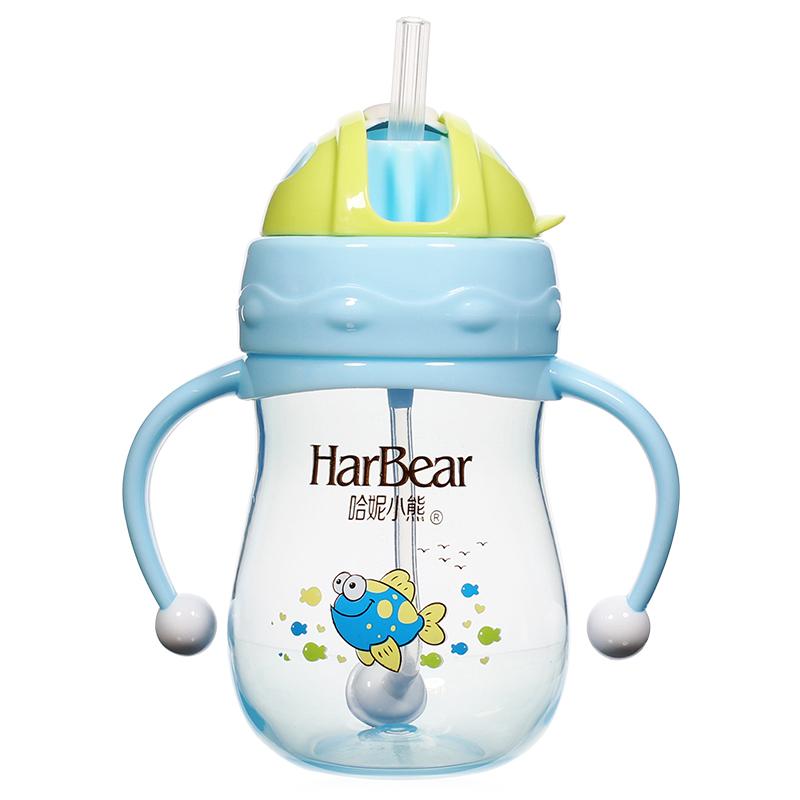 儿童喝水杯子带吸管宝宝1-2-3岁小孩直饮奶瓶婴儿水壶饮水幼儿园