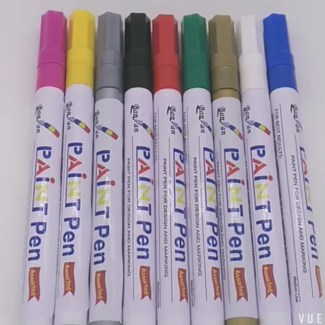 paint marker marking on car tyre window ceramic acrylic tip metal oil paint marker pen