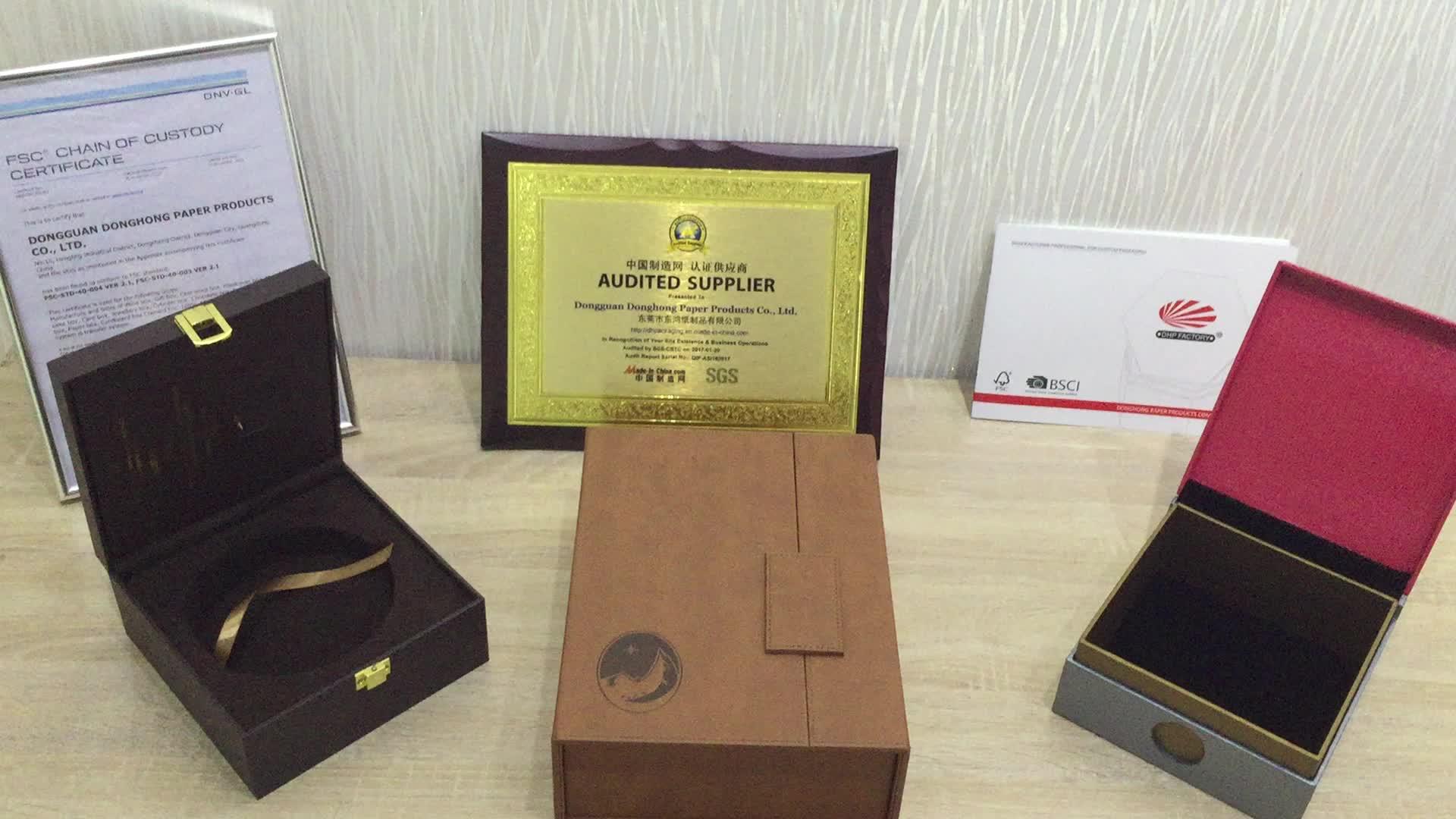 Papel de luxo com caixa de lembrança de MDF de embalagem de presente de chá UV