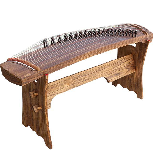 祥音135cm便携式小型迷你半筝纯桐木素面挖筝初学演奏级小古筝琴