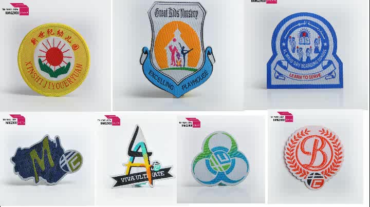 wholesale custom flag raiders 3d embroidered logo neck clothing iron patch