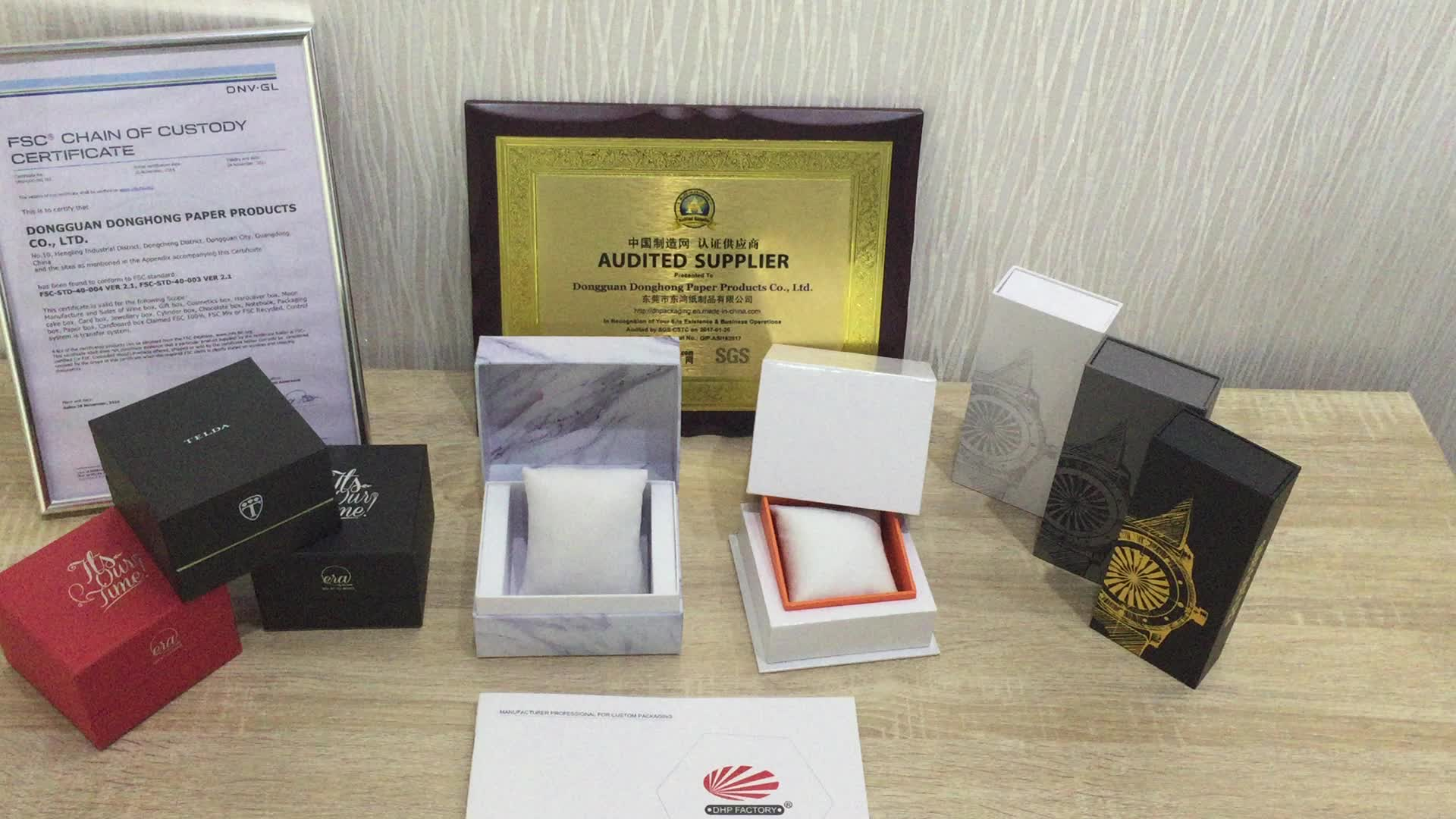Simple 2 Piece Rigid Cardboard Paper Custom Logo Single White Watch Box