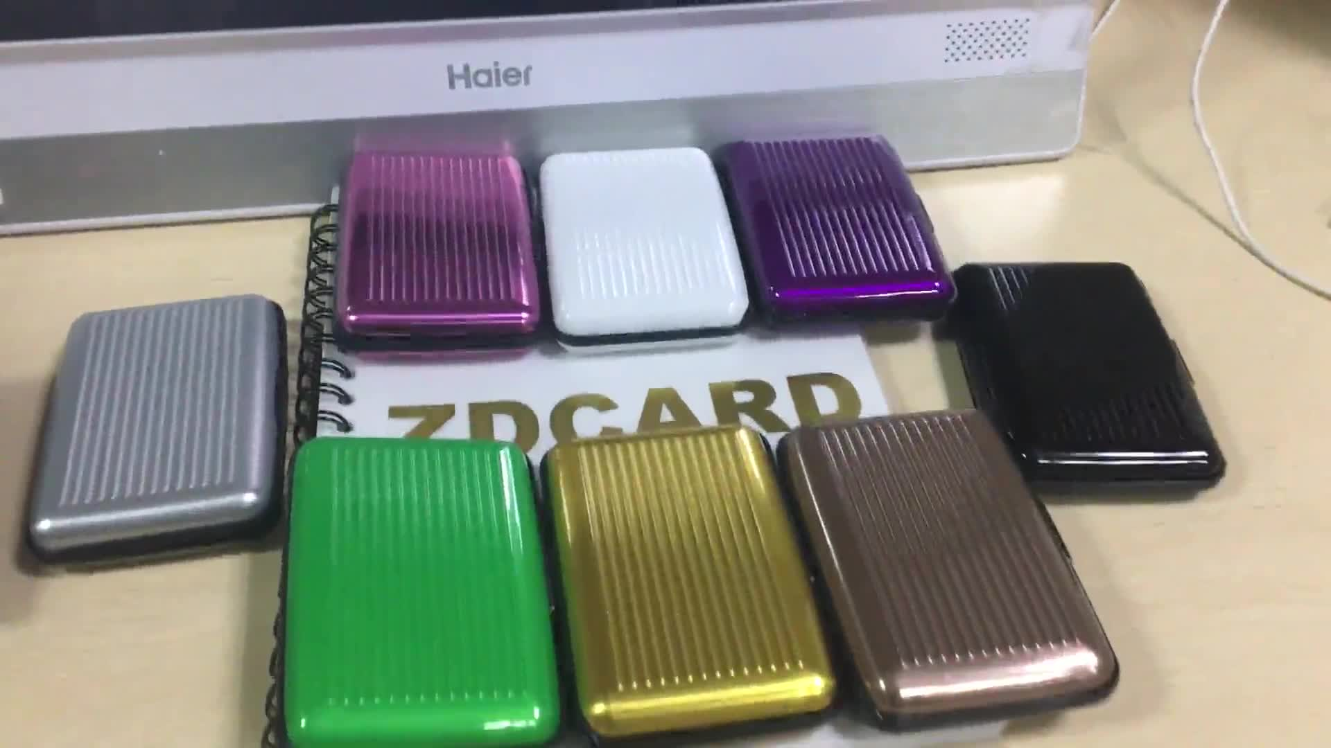 factory RFID information protector safe Aluminum Card Case